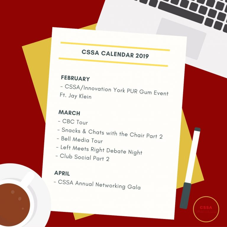 CSSA Event Schedule