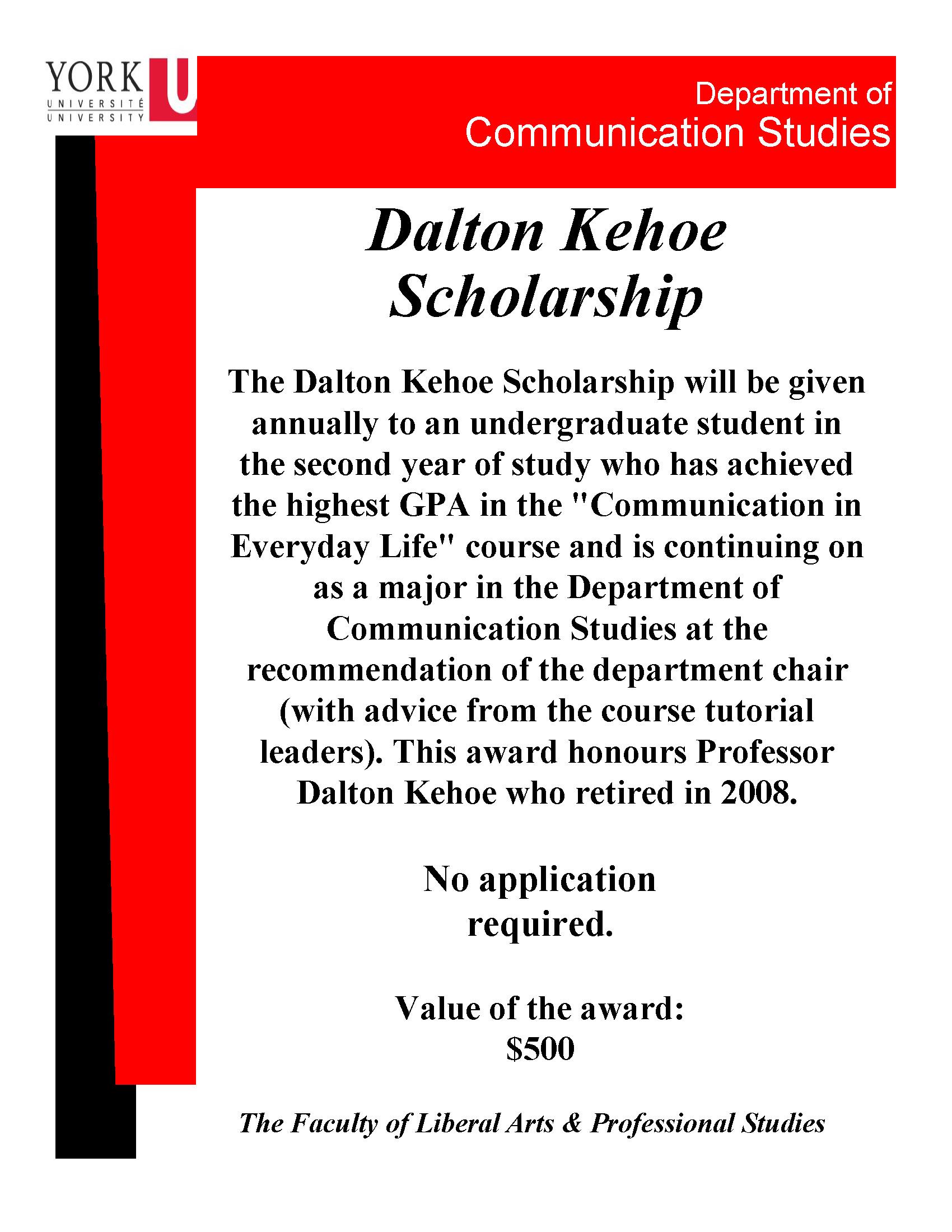 Dalton Kehoe Scholarship