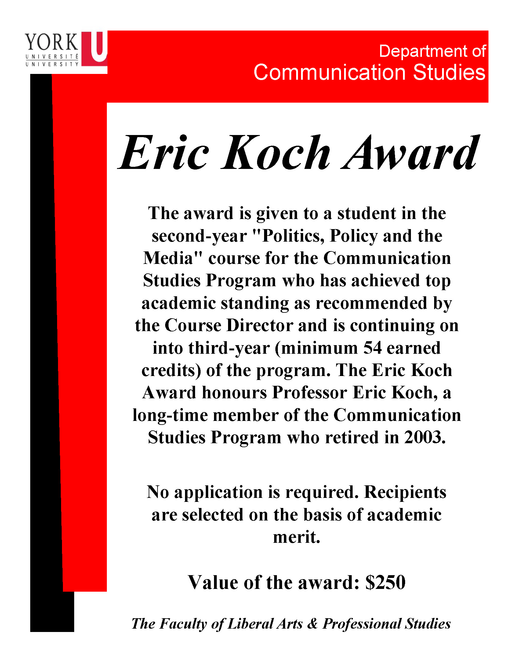 Eric Koch Award